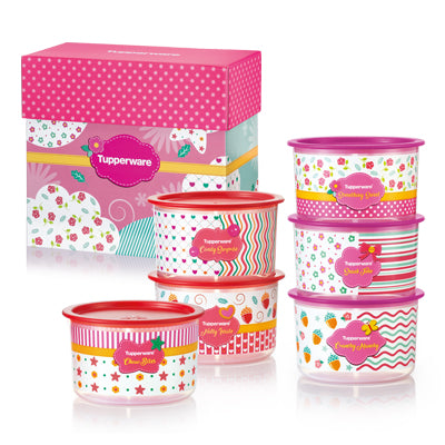 1113 5316 Tupperware Blushing Pink One Touch Gift Set