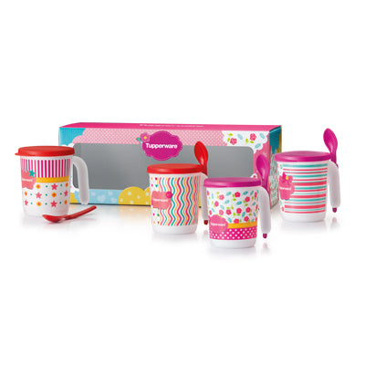 1113 5344 Tupperware Blushing Pink Mug Set