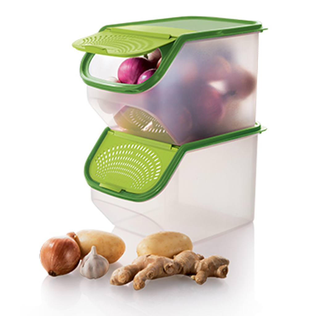 Tupperware 1113 4457 - Green Garlic-N-All-Keeper (2) 5.5L