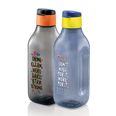 Stay Positive Eco Bottle (2) 1.0L - Blue / Black