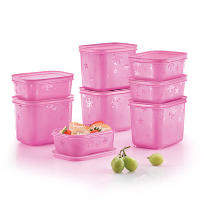 Tupperware Chill-Freeze Set (Pink Frosting)