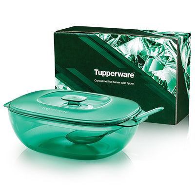 Tupperware Crystalline Rice Server with Spoon (1) 2.5L
