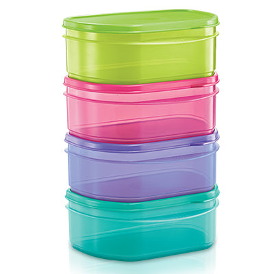 Tupperware Half Fridge Stackable (4) 650ml
