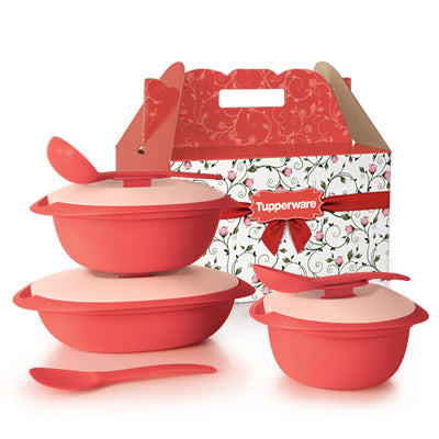 Tupperware Singapore | Coral Blooms Serveware Set