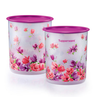 Tupperware Singapore | Garden Blooms One Touch Canister Medium (2) 3.0L