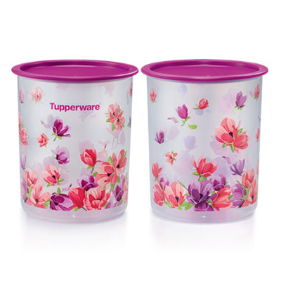 Tupperware Singapore | Garden Blooms One Touch Canister Small (2) 2.0L