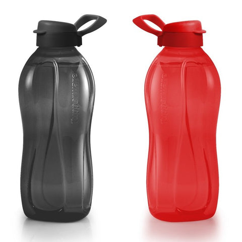 Tupperware Singapore | Giant Eco Bottles  (2) 2L - Black / Red