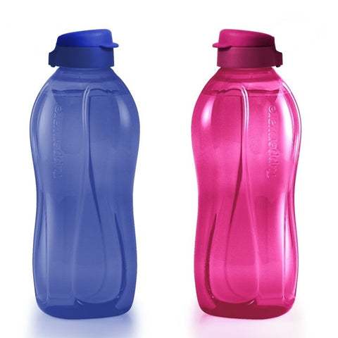 Tupperware Singapore | Giant Eco Bottles  (2) 2L - Blue / Vineyard