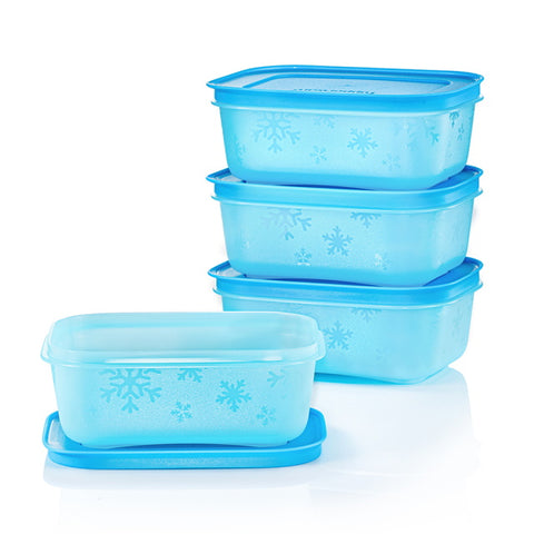 11154119 Chill Freez Small Low (4) 450ml - Blue | Tupperware Singapore