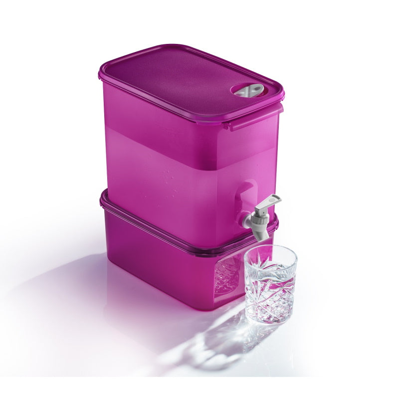 Rectangular Water Dispenser (1) 8.7L with Base | Tupperware Singapore
