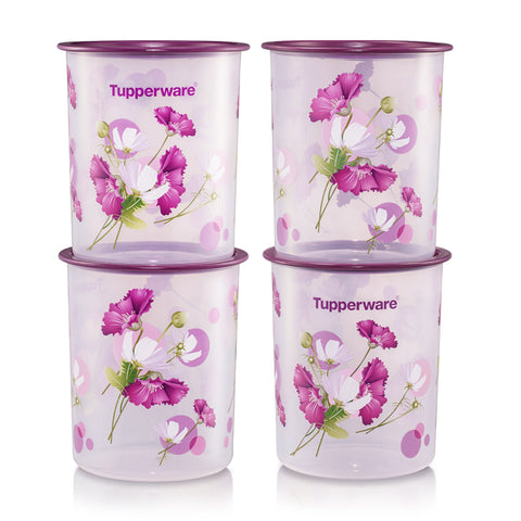 Royale Bloom One Touch Canister Small (4) 2L | Tupperware Singapore