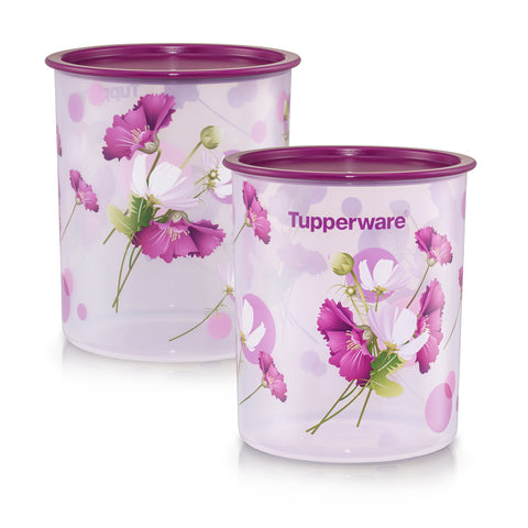 Royale Bloom One Touch Canister Medium (2) 3L | Tupperware Singapore