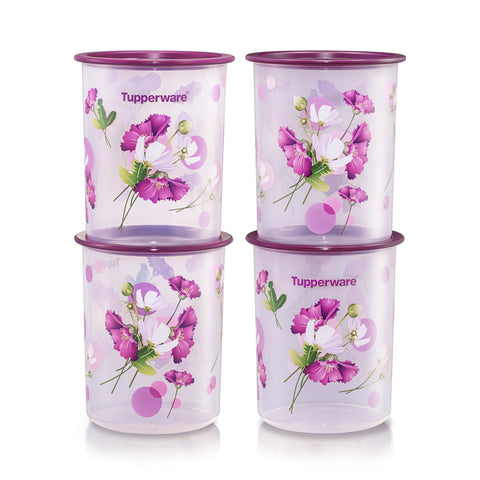 Royale Bloom One Touch Canister Junior (4) 1.25L | Tupperware Singapore