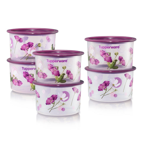 Royale Bloom One Touch Topper Junior (6) 600ml | Tupperware Singapore