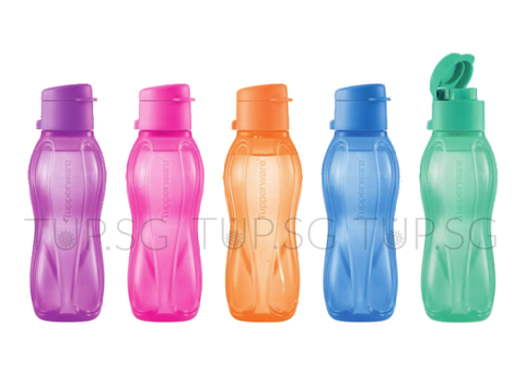 Tupperware Eco Bottle Set (5) - 310ml (Flip Top)