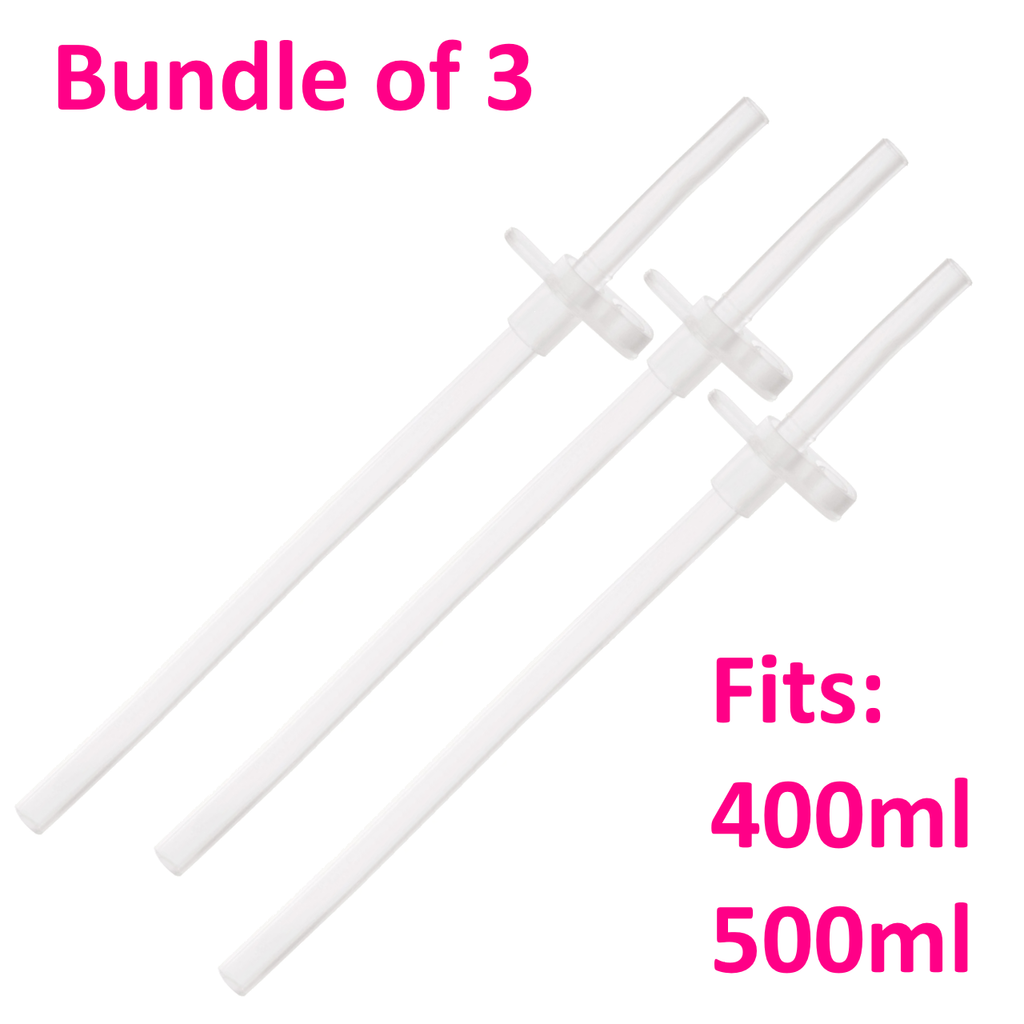 Replacement Straw for 400ml/500ml Children's Bottles (149mm) - Bundle of 4