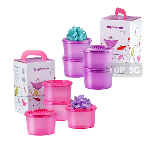 Mini Deco Canister Gift Set (8) 600ml | Tupperware Singapore