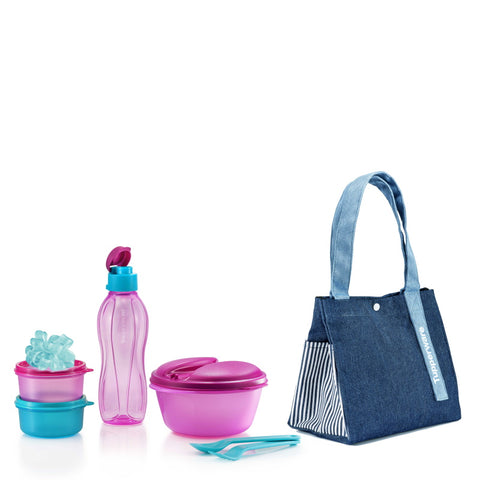 Safe2Go Set w/ Blue-Jean Satchel | Tupperware Singapore
