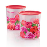 1113 6016 - Blooming Peonies One Touch Canister Medium (2) 3L