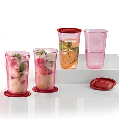 Tupperware Blossom Tall Glass (4) 400ml