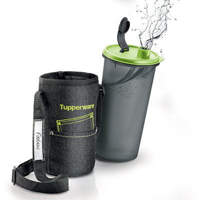 Tupperware Cool Jeans Tumbler with Pouch (1) 1.5L
