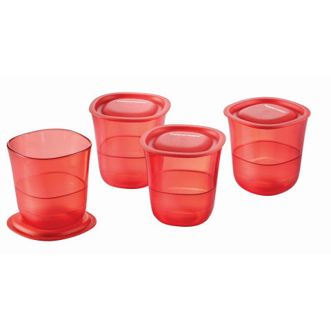 Tupperware Singapore | Coral Blooms Crystalline Short Glass (4) 230ml