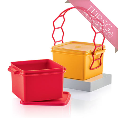 Tupperware Singapore | Double Deep with Cariolier 1.7L each (Red and Orange)