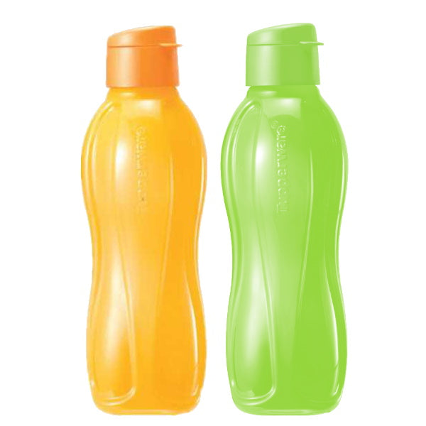 Eco Bottle Flip Top 1L (2) Yellow & Green | Tupperware Singapore