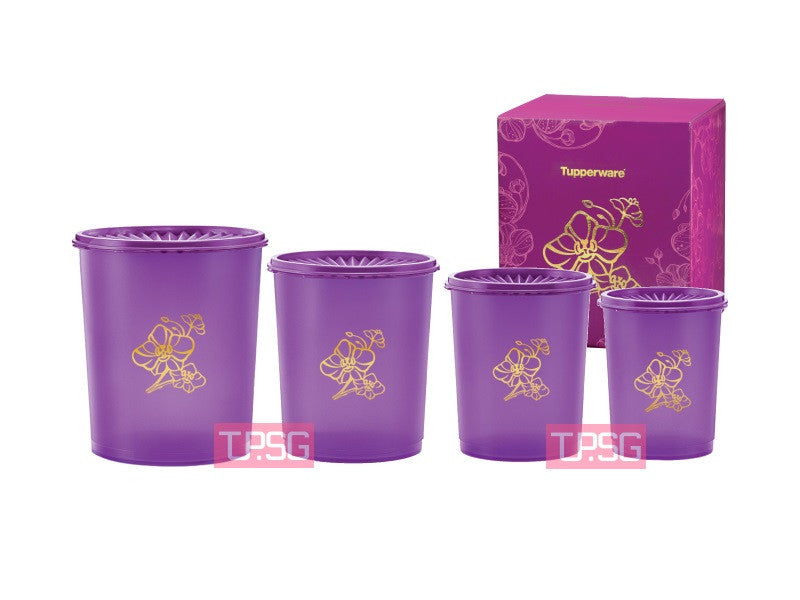 Golden Flora Deco Canister Set