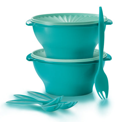 Tupperware Joy Keeper Salad Bowl & Fork Set (1 set)