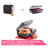 Tupperware Lunch Box with Bag (Black)