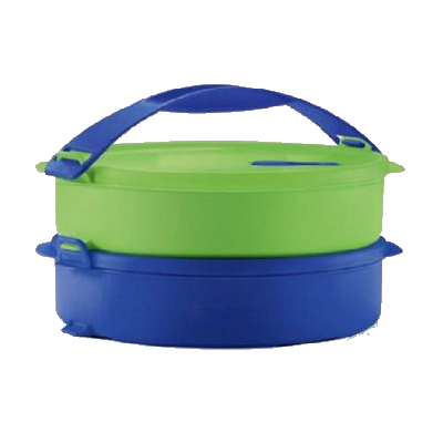 Microwaveable Round Click To Go (2) 880ml (Blue & Green) | Tupperware Singapore
