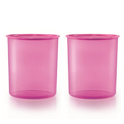 One Touch Canister Large (2) 4.3L - Pink