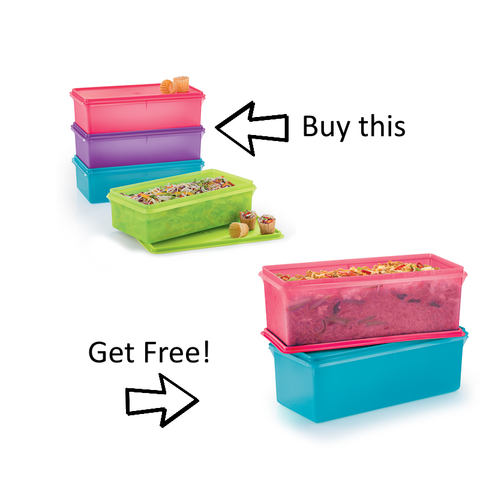 Tupperware Singapore - Party Keeper Set (4) 3.0L w/ free gift