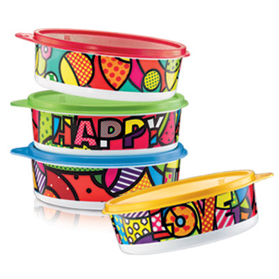 Tupperware Pop-a-Bowl (4) 700ml