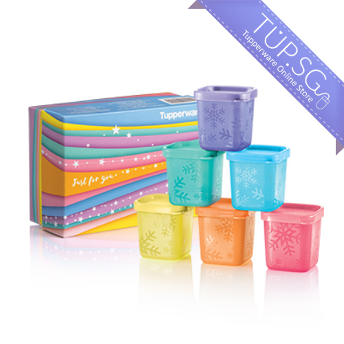 Tupperware Singapore | November 2019 | Rainbow Cubes Gift Set (6) 80ml