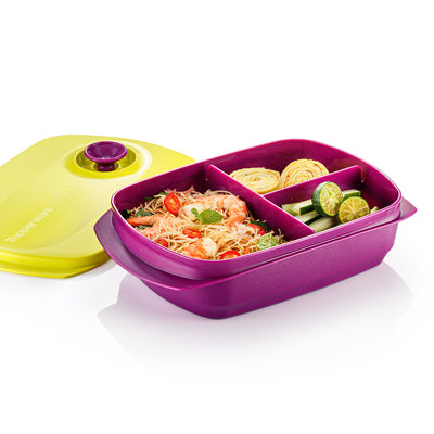 Tupperware Singapore | Crystalwave Reheatable Divided Lunch Box 1.0L - 2020 Edition
