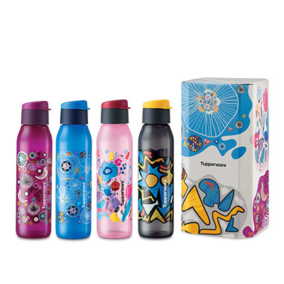 Funky Fun Eco Bottle Set (4) - 500ml | Tupperware Singapore