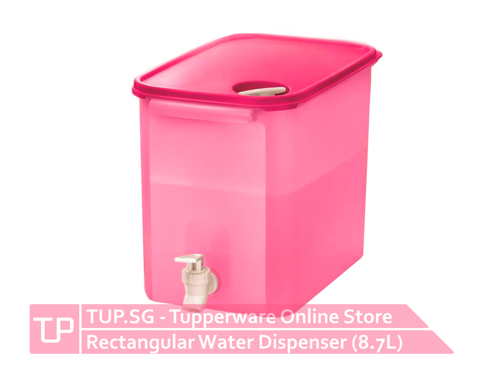 Rectangular Water Dispenser (8.7L) - Pink