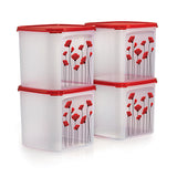 1113 6522 Tupperware Red Poppy Garden Set