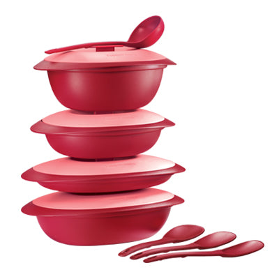 11137779 Tupperware Royal Red Serving Set