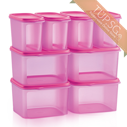 Tupperware Singapore | Smart Saver Square Set - Pink