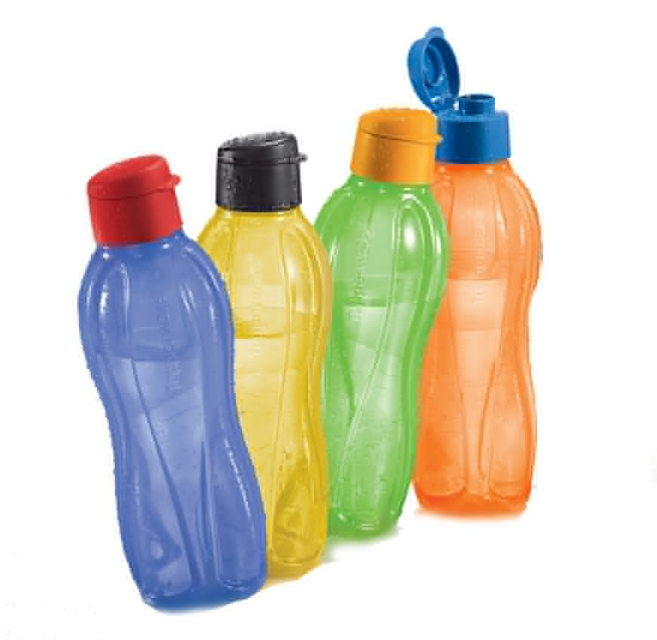 Unique Eco Bottle Set (1L x 4) - Flip Top