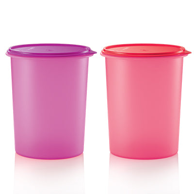 Tupperware Singapore | Tall Canister (2) 10L (Pink + Purple)
