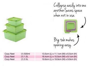 Tupperware Cozy Nest Jumbo Set Green