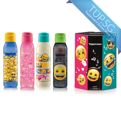 Tupperware emoji™ Eco Bottle with Gift Box (4) 500ml