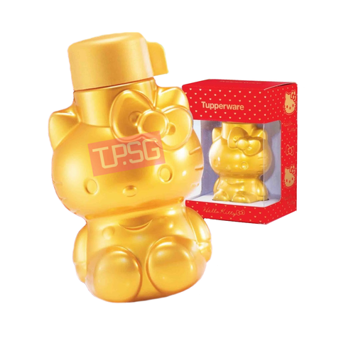 Tupperware Gold Prosperity Hello Kitty Bottle (425ml)