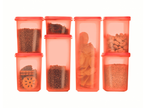 1111 7041 Tupperware Smart Savers Oval Set