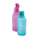 Tupperware Square Eco Bottle (Flip Top) - 500ml - Blue or Pink