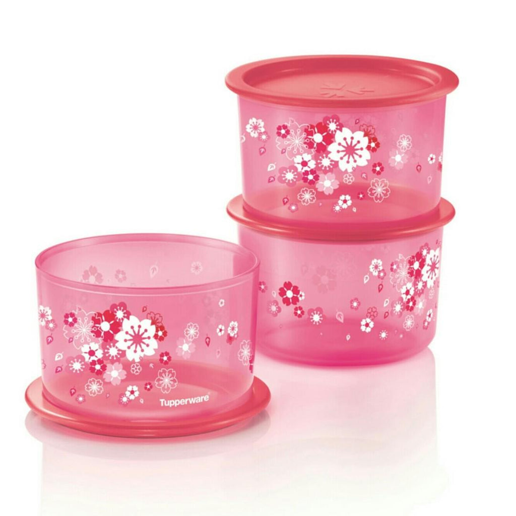 Tupperware Singapore | Sakura One Touch Topper Medium Set (3) 1.4L
